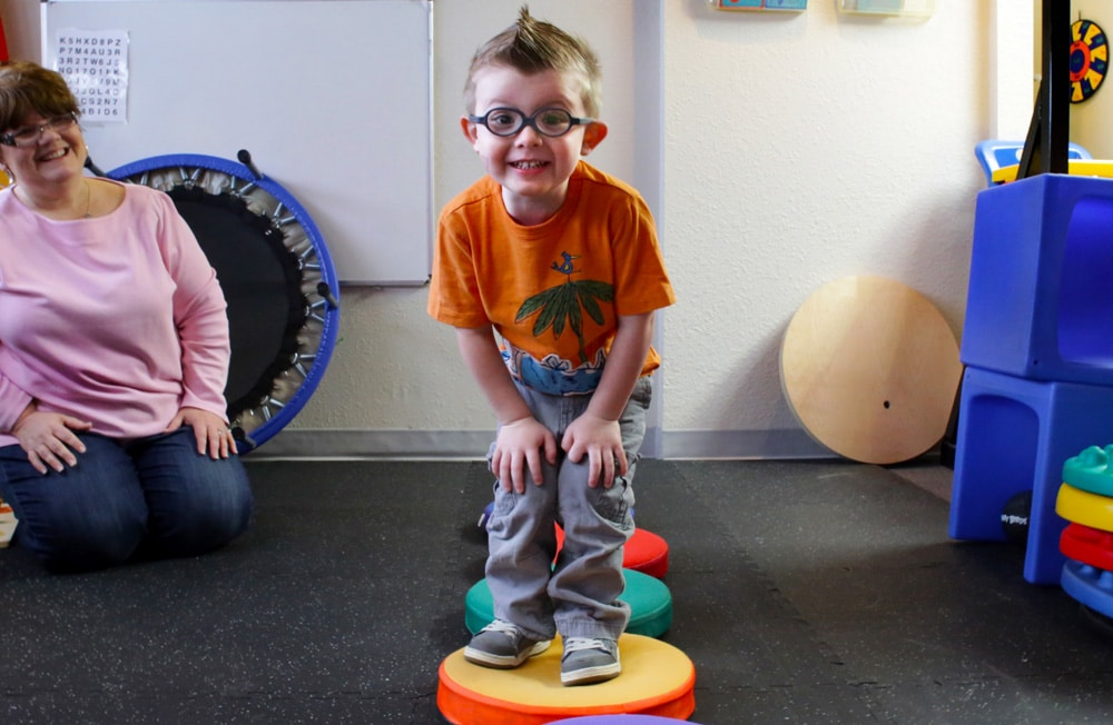 Young man with Occupational Therapist